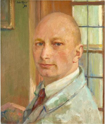 Zelfportret Simon de Heer